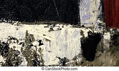 Close up og grunge background dolly shot
