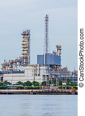 Close up oil refinery