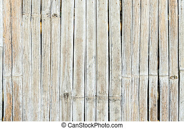 Close up old bamboo wall texture for use as background