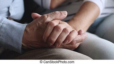 Affectionate spouses enjoying sweet tender moment, ...