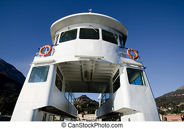 Close up on a ferry boat
