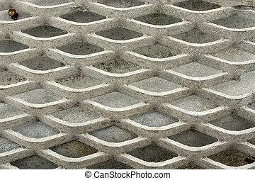 pattern - Close up on a grid; gray pattern