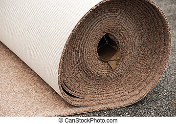 close up on carpet roll for home improvement