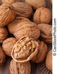 walnut - close up on group of walnut
