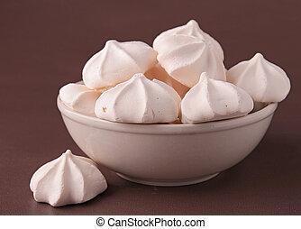 close up on meringue