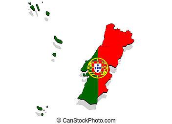 desenho mapa de portugal Portugal territory on world map. Portugal flag on old vintage  desenho mapa de portugal