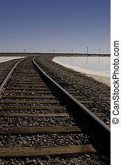 Railroad Tracks - Close up on Railroad Tracks