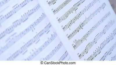 Close up on Retro - Old Music Notes.