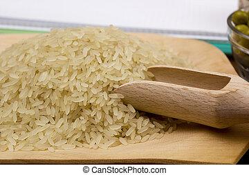 Close up on rice