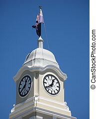 cityhall clock - close up on the cityhall clock tower,...