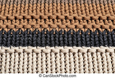 Close-up on the texture in wool