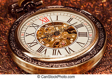 Close up on vintage clock