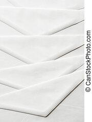 close up on white envelopes background