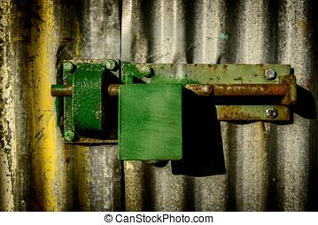 Close-up padlock