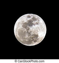 close-up., pełnia księżyca