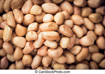 close up peanuts on background. top view