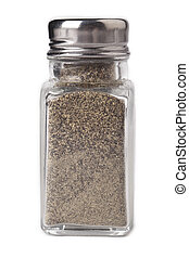 close up pepper shaker - Close-up image of a small pepper ...