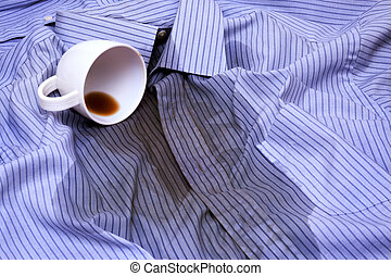 Coffee Spilled On A Shirt