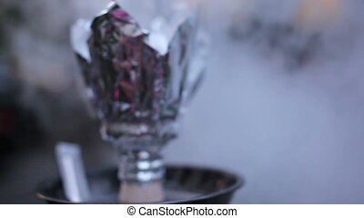 Close-up photo of foil for hookah
