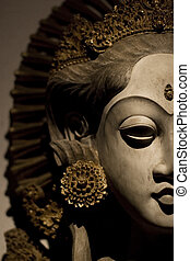 close up photo of javanese princess totem