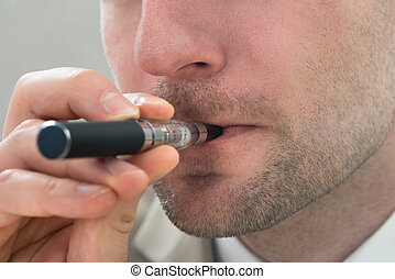 Man With Electronic Cigarette