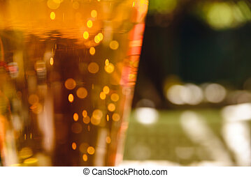 Close-up photo with glass of light beer