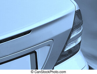 Close-up picture of a car back