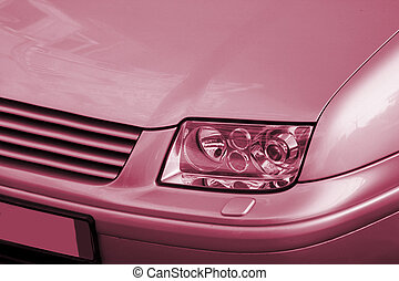 Close-up picture of a car.