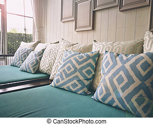 Close Up Pillow In Living Room