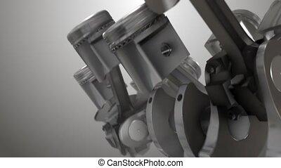 Close-up Piston animation