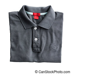 polo shirt - Close up polo shirt isolated on white...