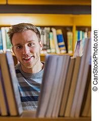 Close up portrait of a male student