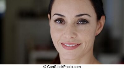 Close up portrait of a stunning young woman