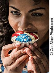 american girl bite cupcake