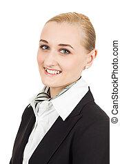 Close-up portrait of air hostess