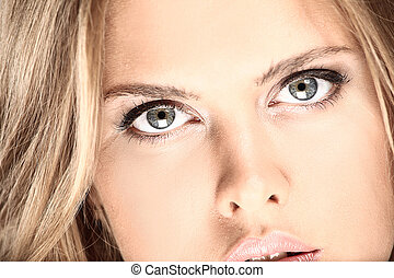 close-up portrait of attractive young model