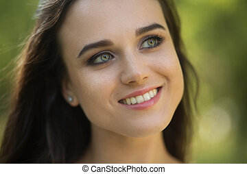 Close up portrait of beautiful girl.