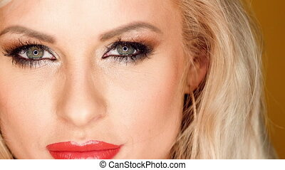 Close Up Portrait of Blond Sexy Gir