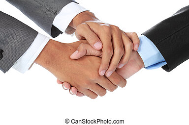 businessman shaking hands - close up portrait of businessman...
