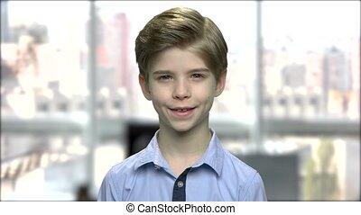 Close up portrait of cute little boy.