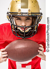 female american football player