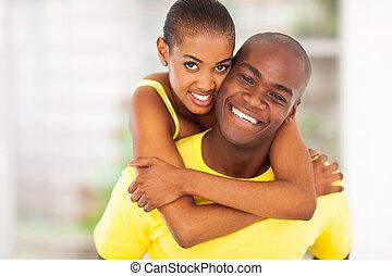 happy african couple