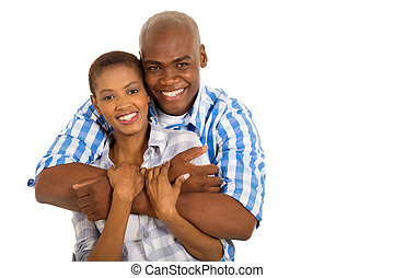 young african american married couple
