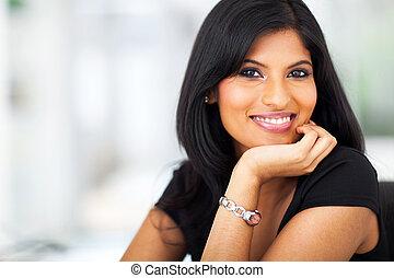 portrait of indian smiling businesswoman