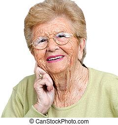 Close up portrait of senior woman.