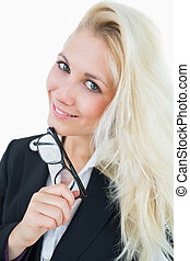 Close-up portrait of young business woman
