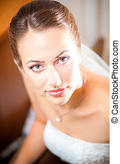 close-up portraits of the bride