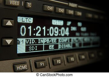 close-up professional broadcast vcr display