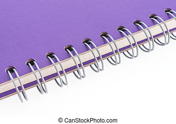 Purple note book