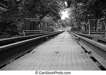 railway at The Bridge of the River Kwai